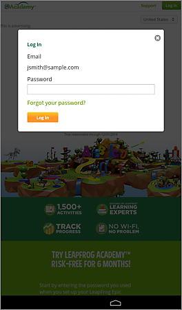 Parent Account Password