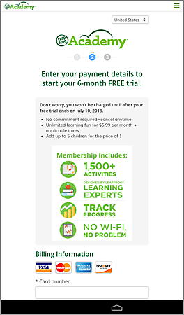 6 Month Membership to LeapFrog Academy