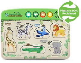 Interactive Wooden Animal Puzzle