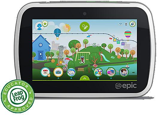 LeapFrog Epic with LeapFrog Educator Approved logo