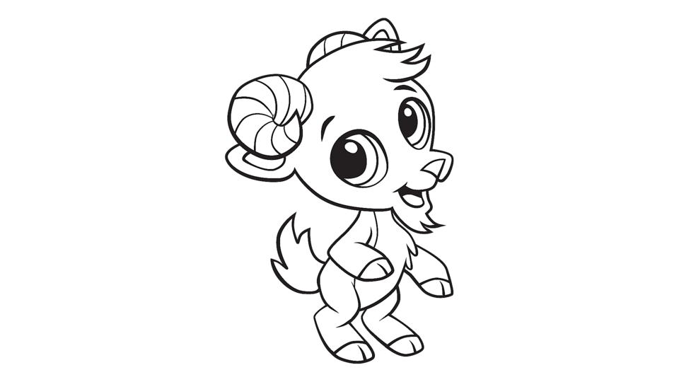 Goat color page, animal coloring pages, color plate, coloring ... | 540x960