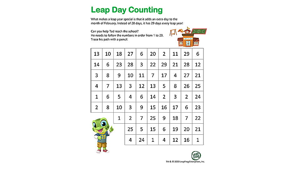 Leap Day Counting Activity Preview
