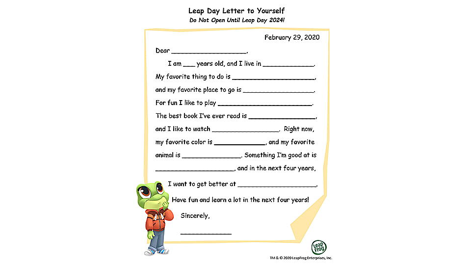 Leap Year Letter to Yourself Preview