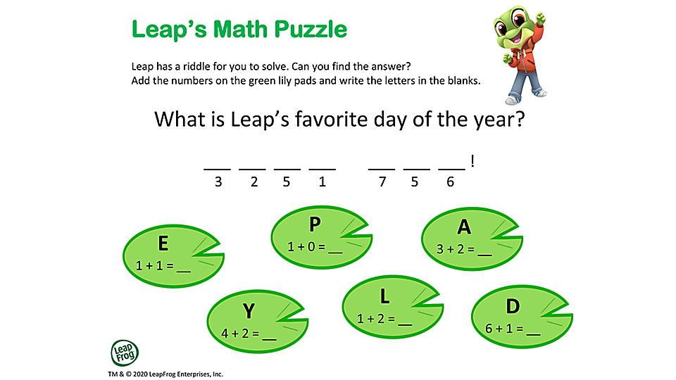 Leap's Math Puzzle Preview