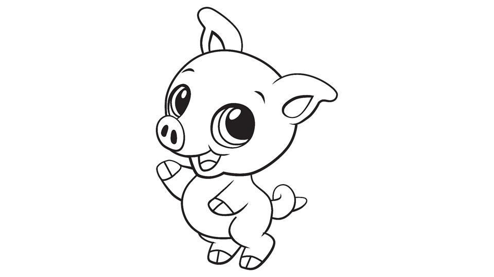 Baby Pig Coloring Printable