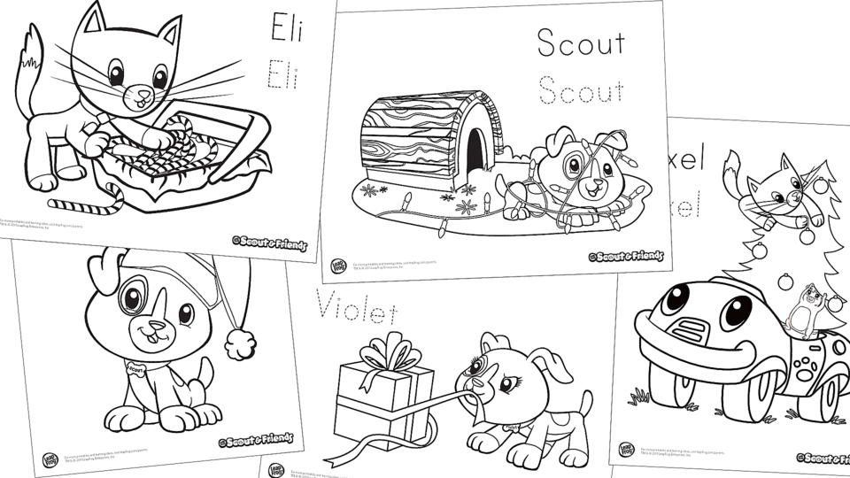 - Scout & Friends Winter Coloring Pack