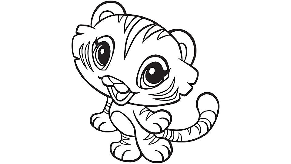 Learning Friends Tiger Coloring Printable