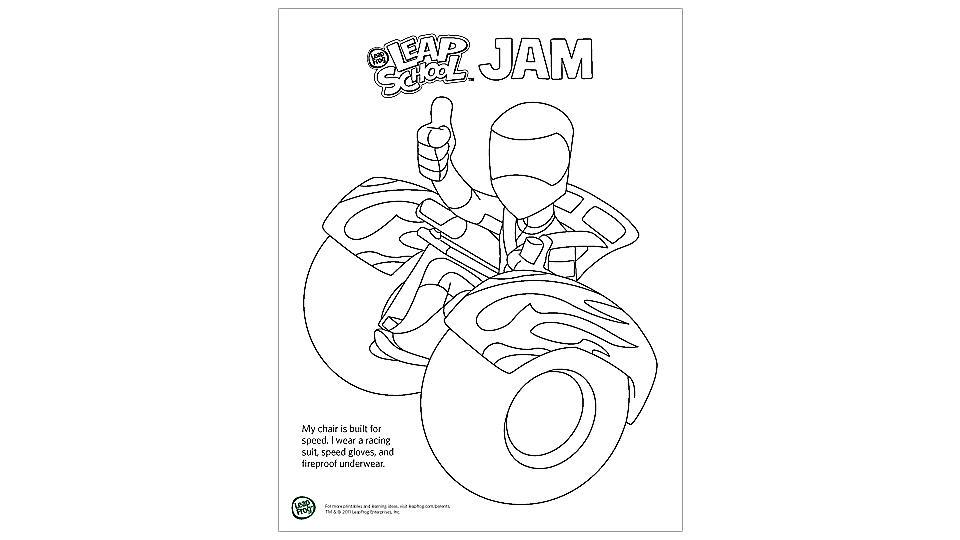LeapSchool Coloring Pages (J-R)