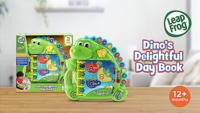 NEW LeapFrog Dino's Delightful Day Book Educational Toy Letters Numvers Sounds