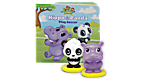Learning Friends Hippo & Panda Figure Set with Board Book