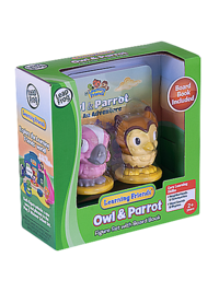 LEARNING FRIENDS OWL & PARROT FIGURE SET WITH BOARD BOOK
