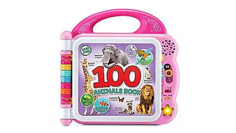 100 Animals Book Pink