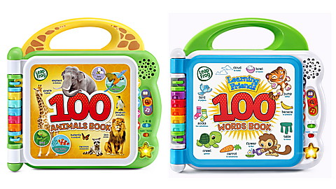 100 Words & 100 Animals Book Set