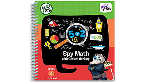 LeapStart™ Spy Math with Critical Thinking 30+ Page Activity Book
