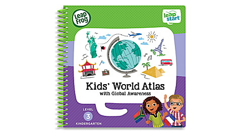 LeapStart™ Kids' World Atlas with Global Awareness 30+ Page Activity Book