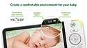 """LF925HD Remote Access Smart Video Baby Monitor with 5"""" HD Display Unit View 10"""