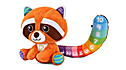 Colourful Counting Red Panda™ View 5